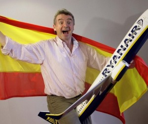 Ryanair Chief Executive O'Leary poses before a news conference in Madrid
