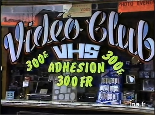 VideoClub VHS Piratage Cassette Video INA
