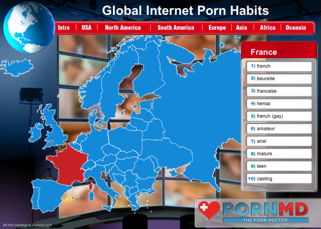 Global Internet Porn Habits Infographic France