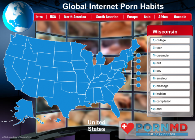 Global Internet Porn Habits Infographic Wisconsin