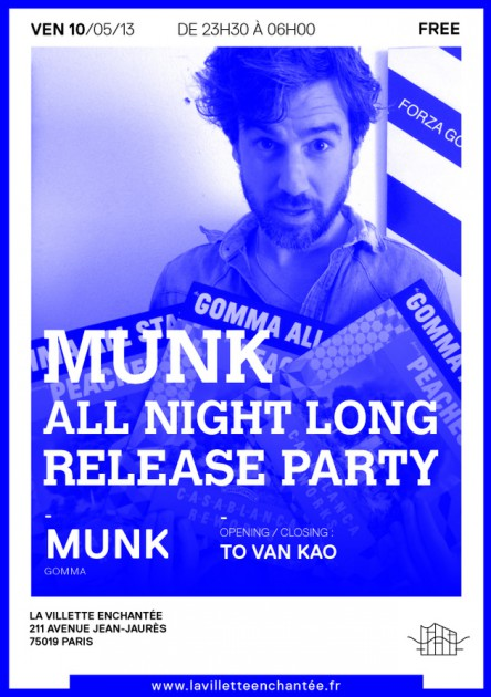 Munk flyer release party villette enchantee