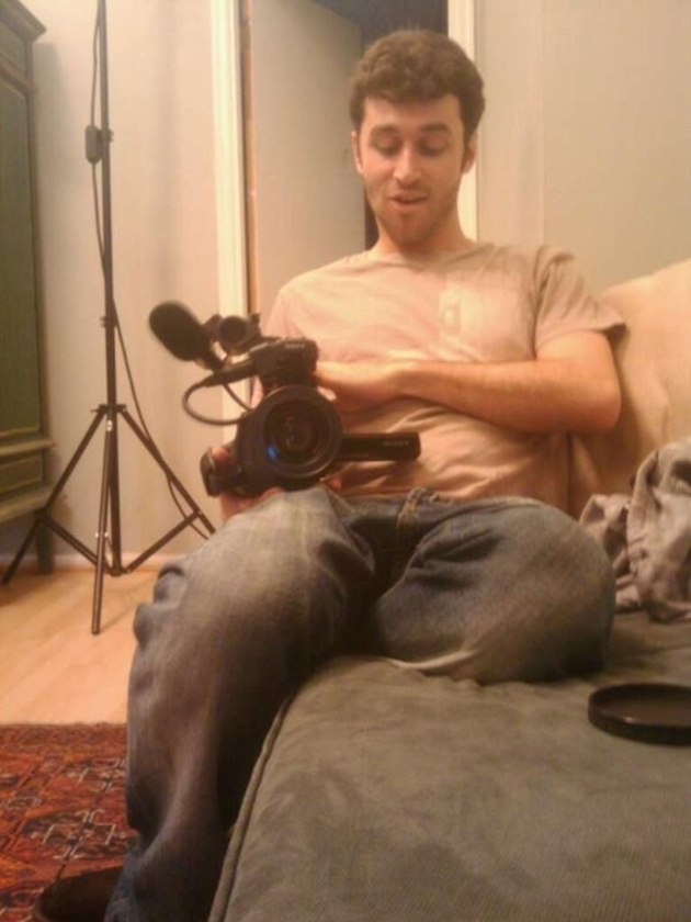 james deen holding a camera