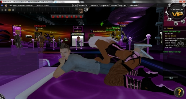 kink virtual massage in the palace sex pit