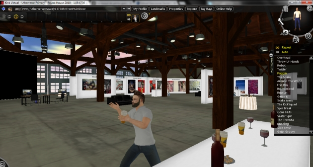 Dancing in the museum of Virtual Vancouver