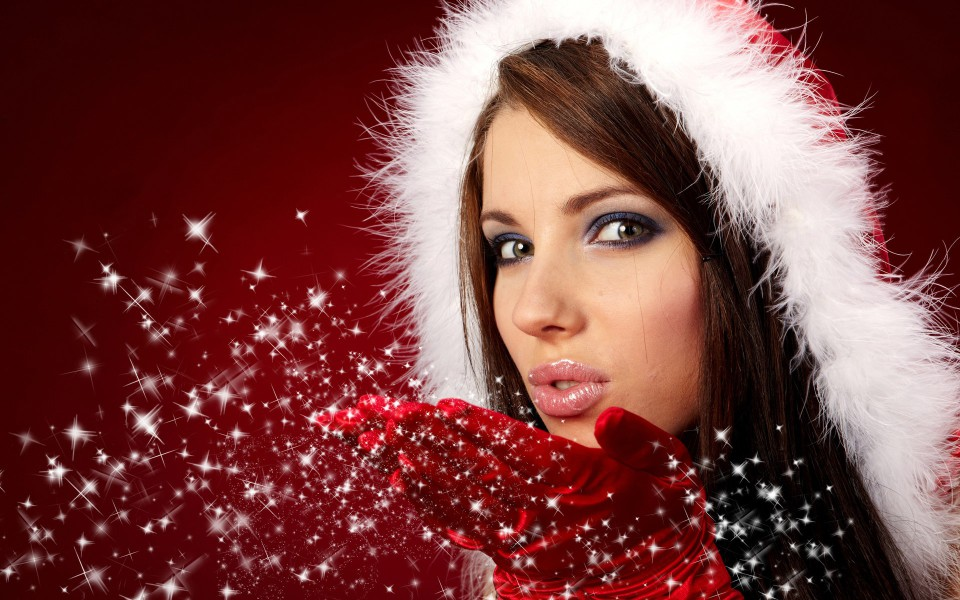 beautiful-christmas-santa-babe-wallpaper