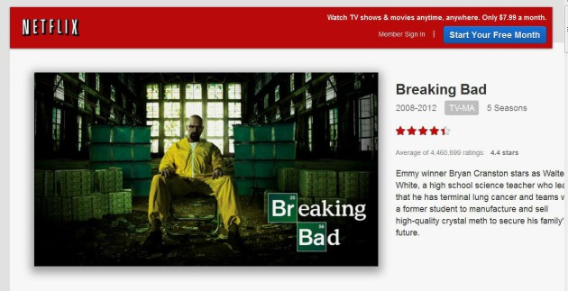 GIMPED breaking Bad on Netflix snapshot