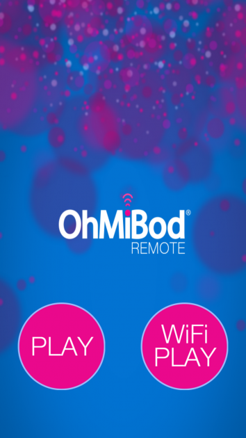 OhMiBod Bluemotion app