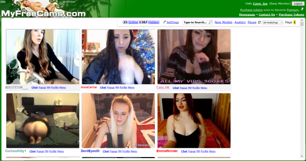 test settings myfreecams