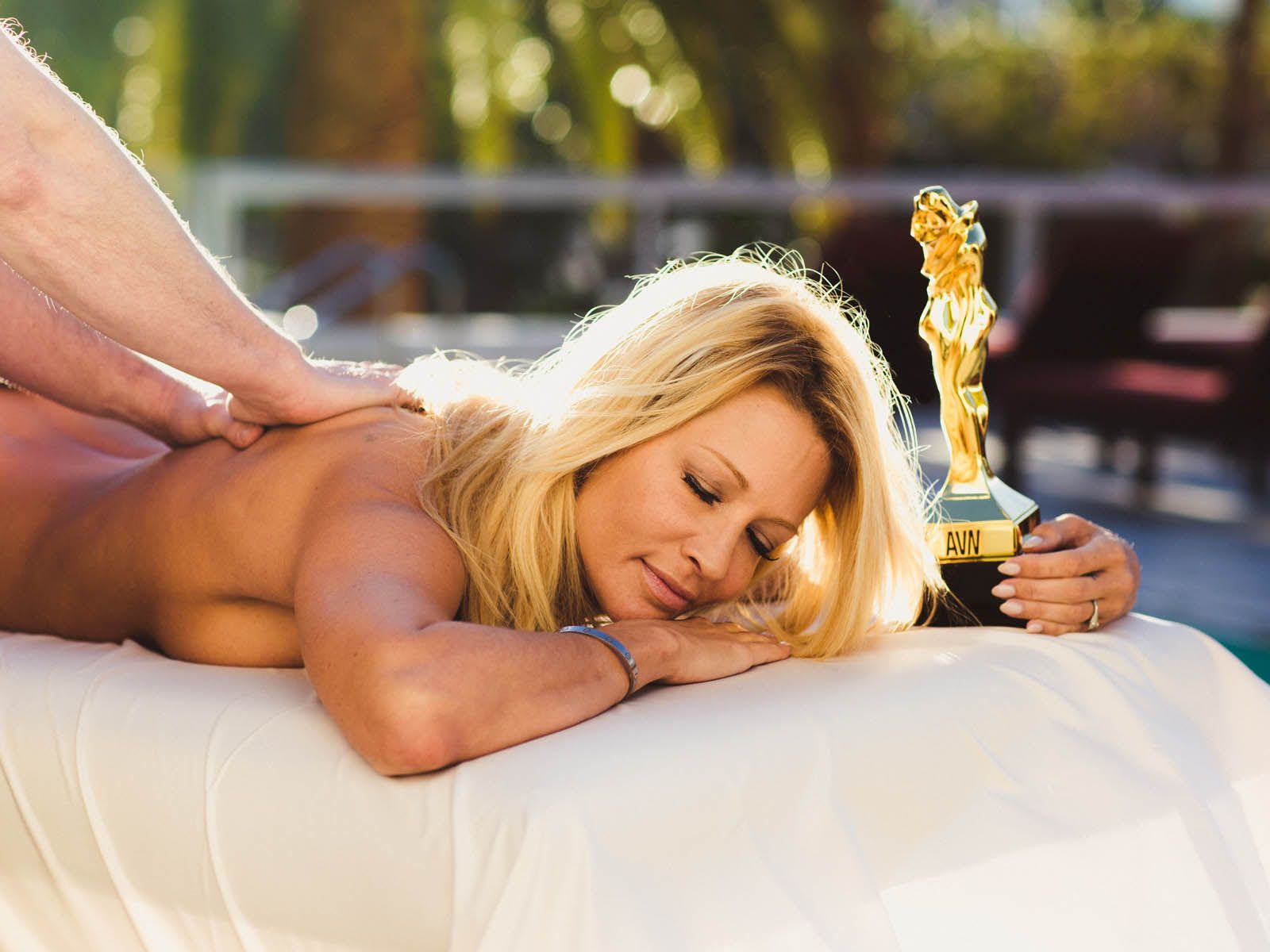 Mainstream Star of the Year - Jessica Drake au bord de la piscine du Hard Rock Hotel