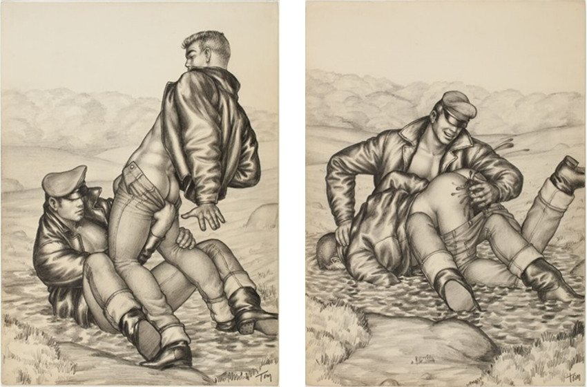 Untitled, Motorcycle Series, 1959, Tom of Finland